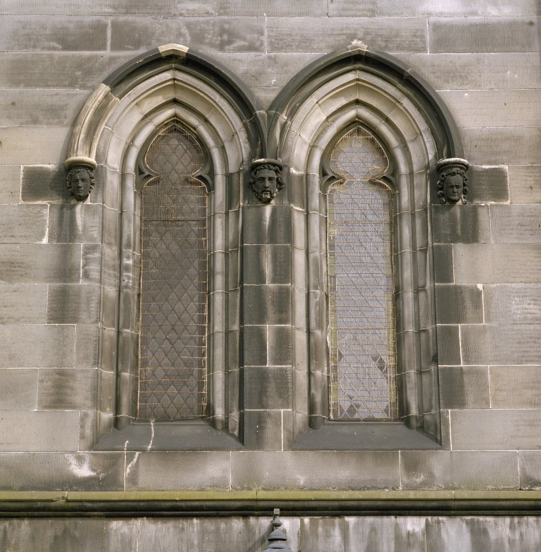 Tower, detail of window at 1st floor level