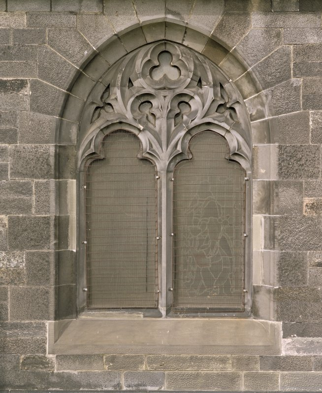 Ground floor, detail of window on south facade