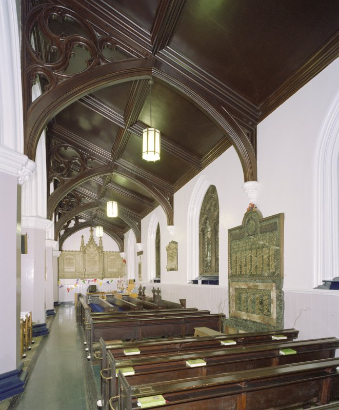 Interior, north aisle, view from east