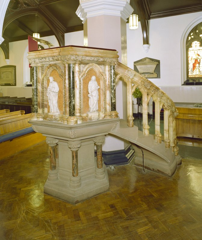 Interior, view of pulpit