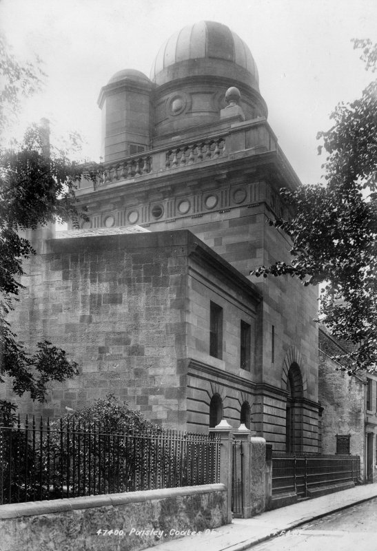 Copy of historic photograph showing The Coats Observatory, Paisley.