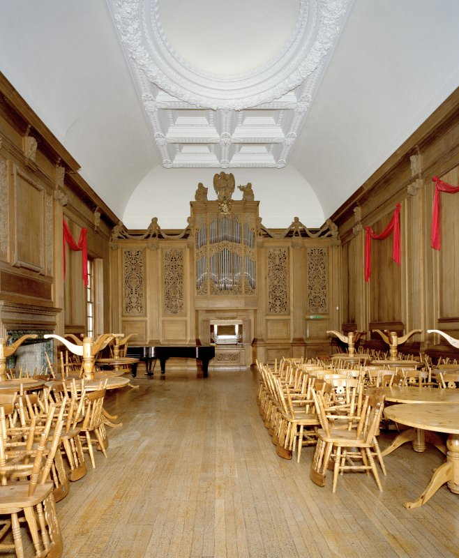Interior. Main floor, view of music room from W