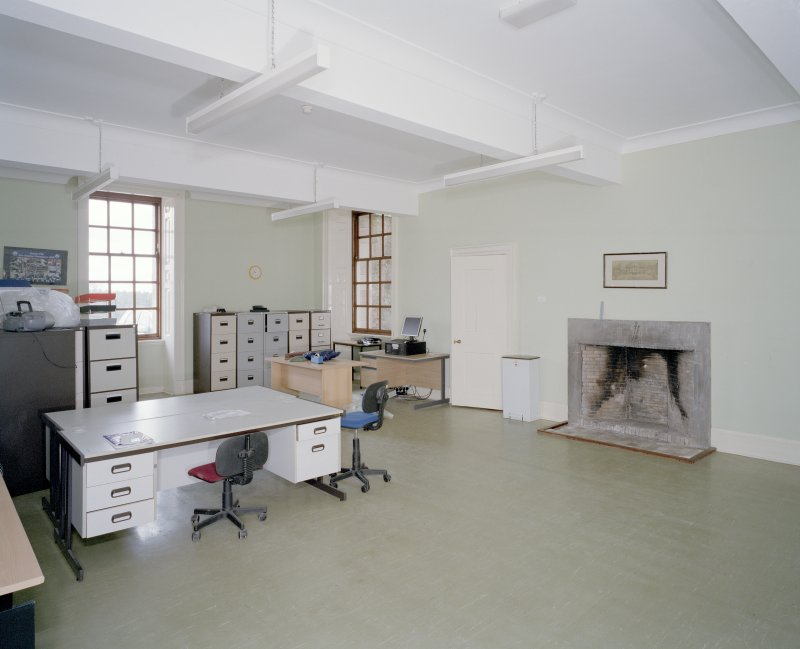Interior. Basement floor, view of servants hall from W