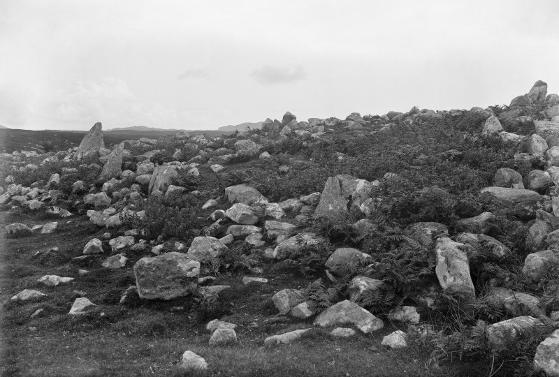 General view of north edge of cairn.