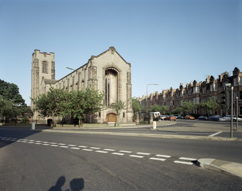 Digital copy of general view from West North West of Reid Memorial Church.