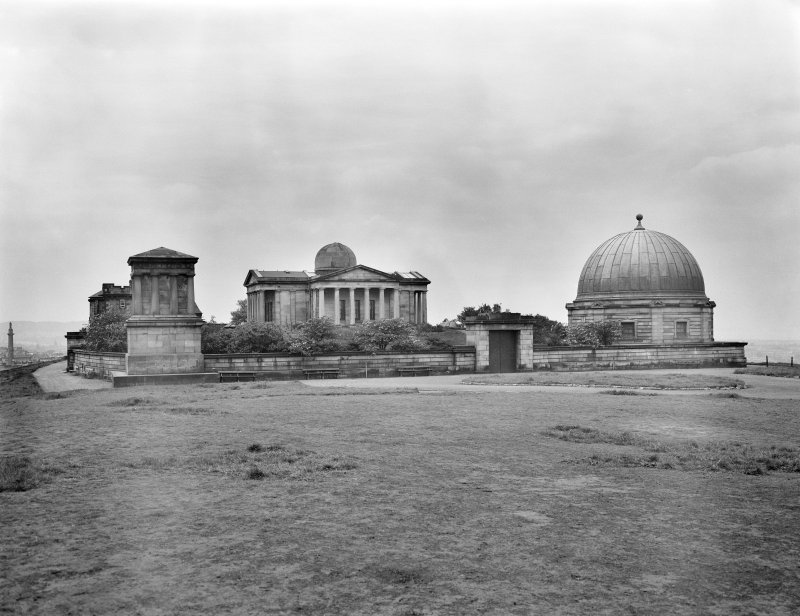 View of Observatory and Playfair Monument, Edinburgh.
