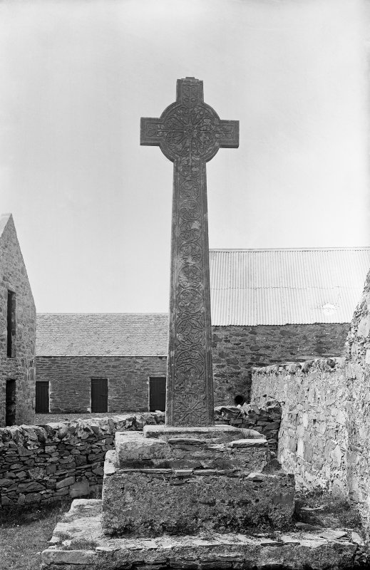 View of east side of cross.