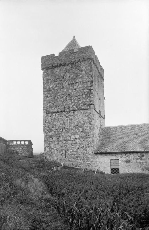 View of tower from S showing SSW face