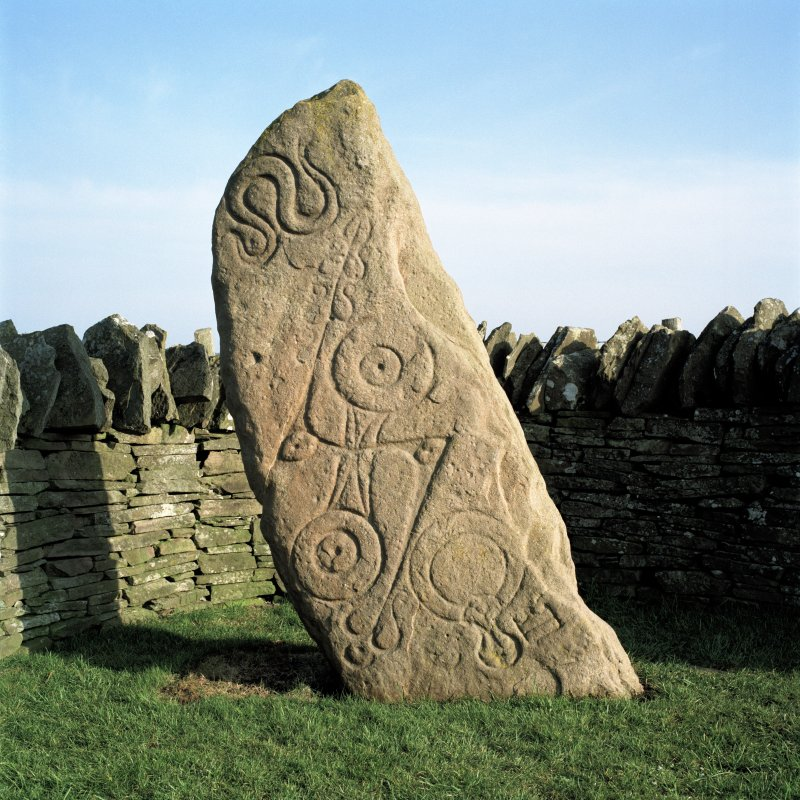 Aberlemno Pictish symbol and cup-marked stone. (No.1)