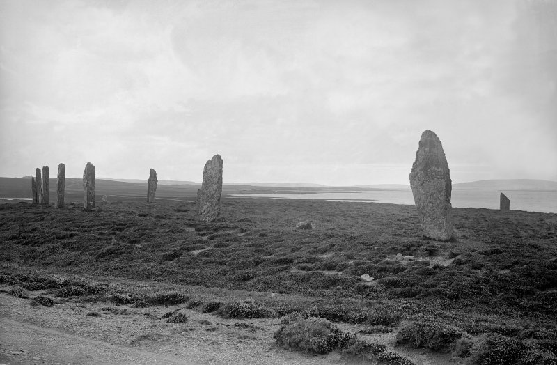 View of stone circle at Ring of Brodgar.