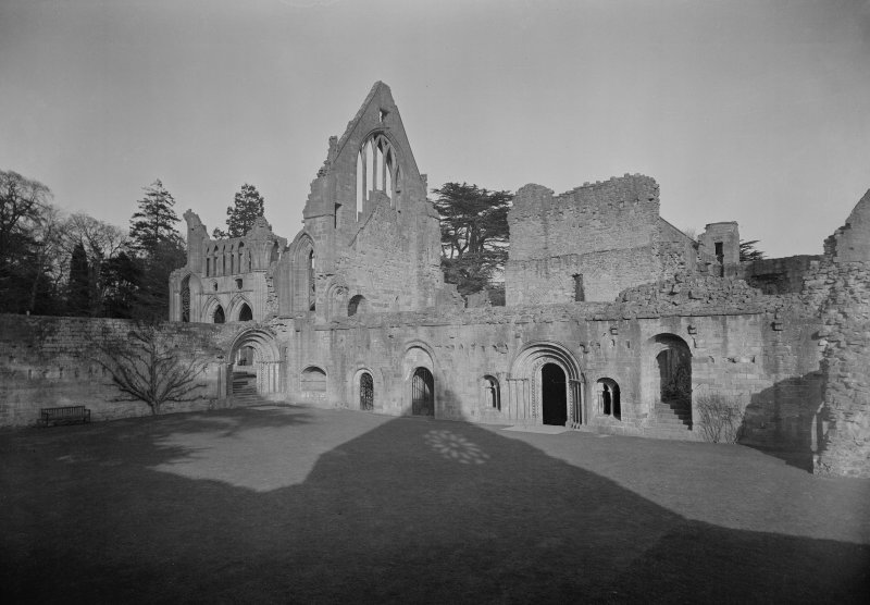 View of cloister garth from NE.
