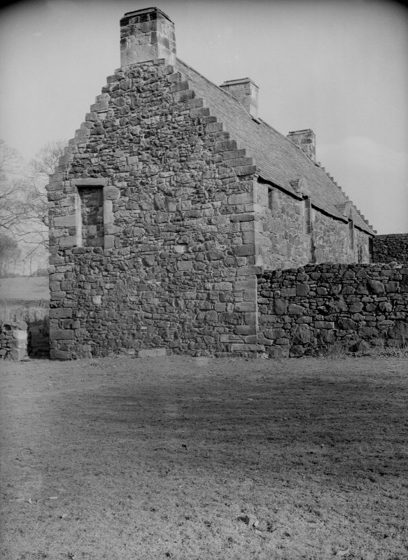Glasgow, Auchinlea Road, Provan Hall. General view from West of gable of North building.