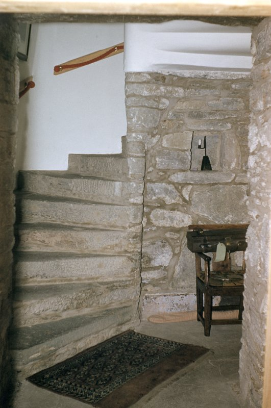 Duntrune Castle, interior. View of stair.
