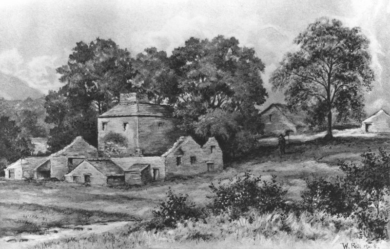 Argyll, Bonawe Ironworks, Lorn Furnace. Drawing of a general view of furnace.