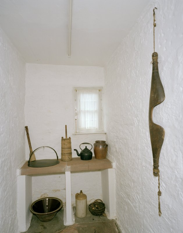 Interior. Ground floor, scullery, view from W