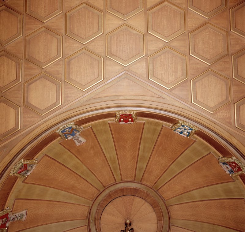 Trades House, interior Banqueting Hall, detail of ceiling