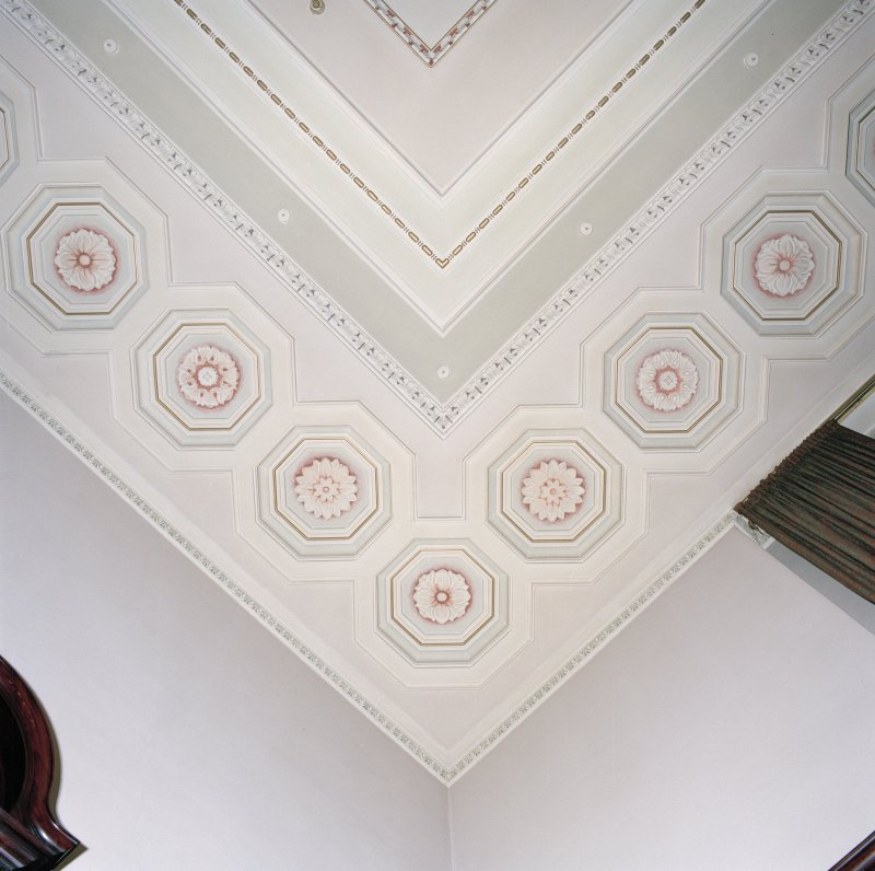 Trades House, interior Saloon, detail of ceiling plasterwork