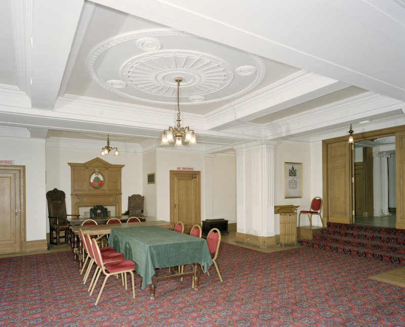Interior, ground floor, reception room, view from east
