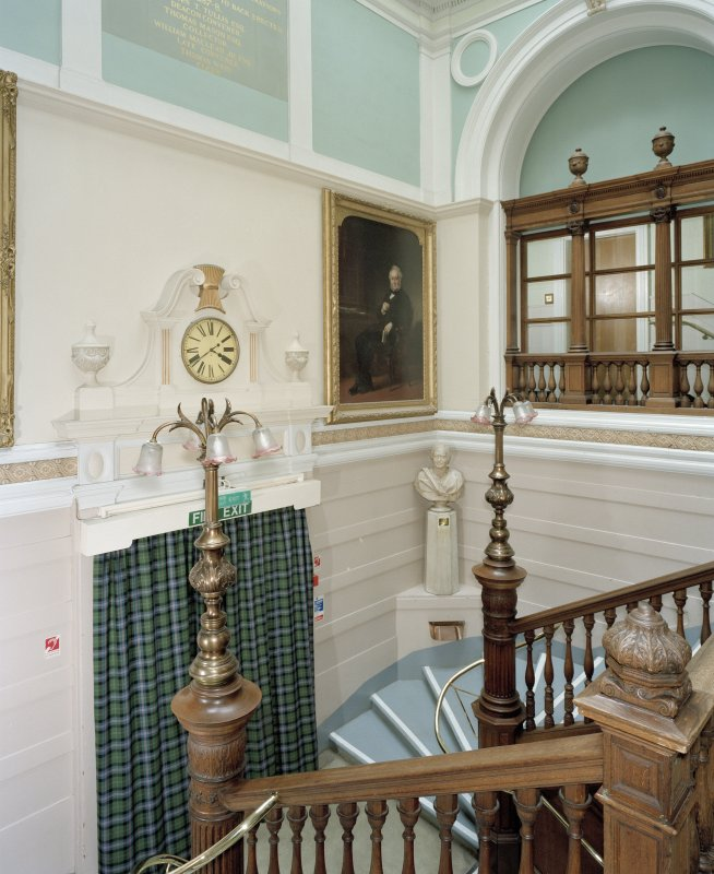 Interior, main staircase, 1st floor, view from south west