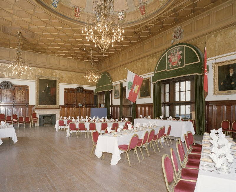 Interior, 1st floor, grand hall, view from north west