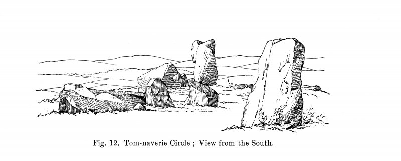 Sketch of recumbent stone circle from S.