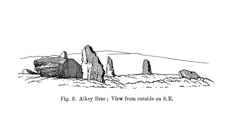 Sketch of recumbent stone circle.