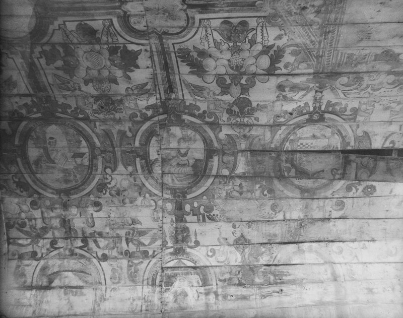 Details of painted ceiling.