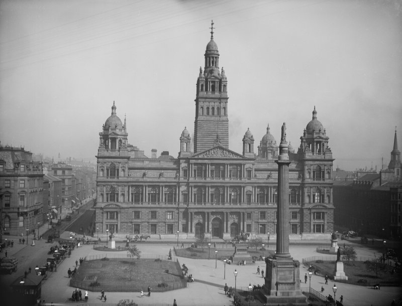 View of City Chambers, 82 George Square, Glasgow. Titled: '175  Municipal Buildings, Glasgow.'