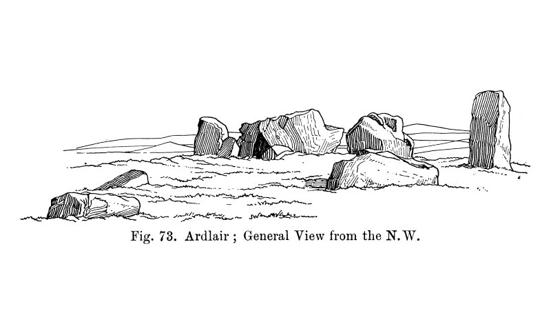 Sketch view of recumbent stone circle