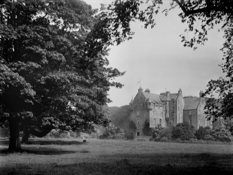 General view of Pitfirrane Castle, Crossford, Fife.