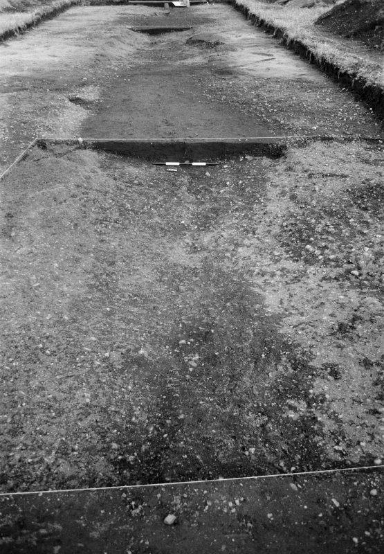 Excavation photograph: Film 93/BW/1: Ditch section A1 after emptying at Cleaven Dyke. Illustration 28.
