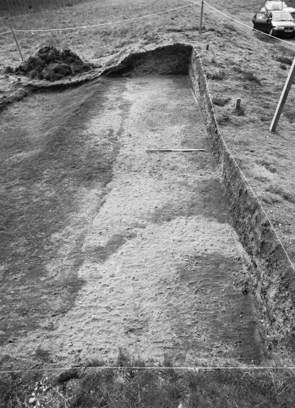 Excavation photograph: Film 95/BW/1: Site after cleaning to second planning spit at Cleaven Dyke. Illustration 34.