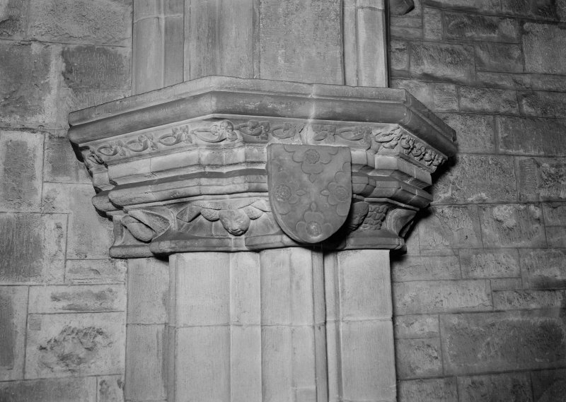 Interior-detail of capital on South respond of Choir