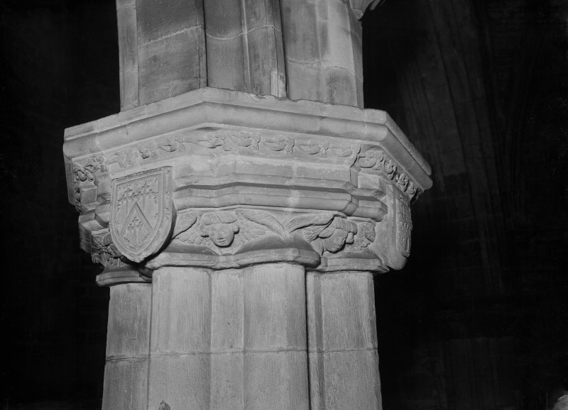 Interior-detail of capital on South pier of Choir arcade