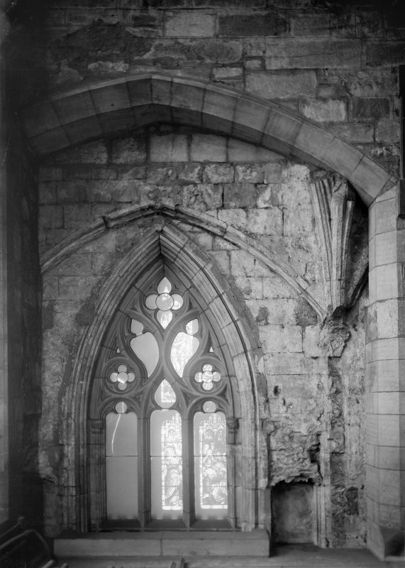 Interior-detail of window in East wall of North Transept