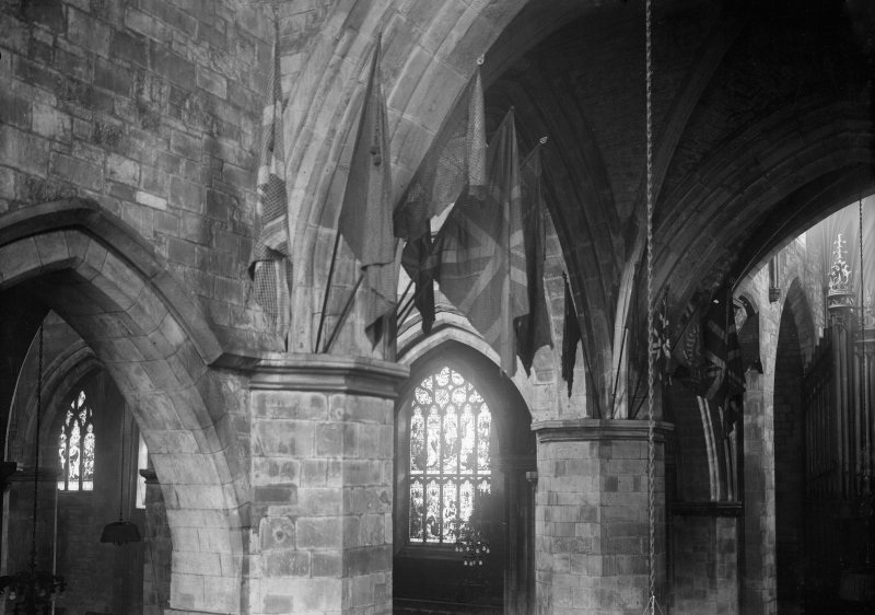 Interior-general view of North Porch roof in North Transept