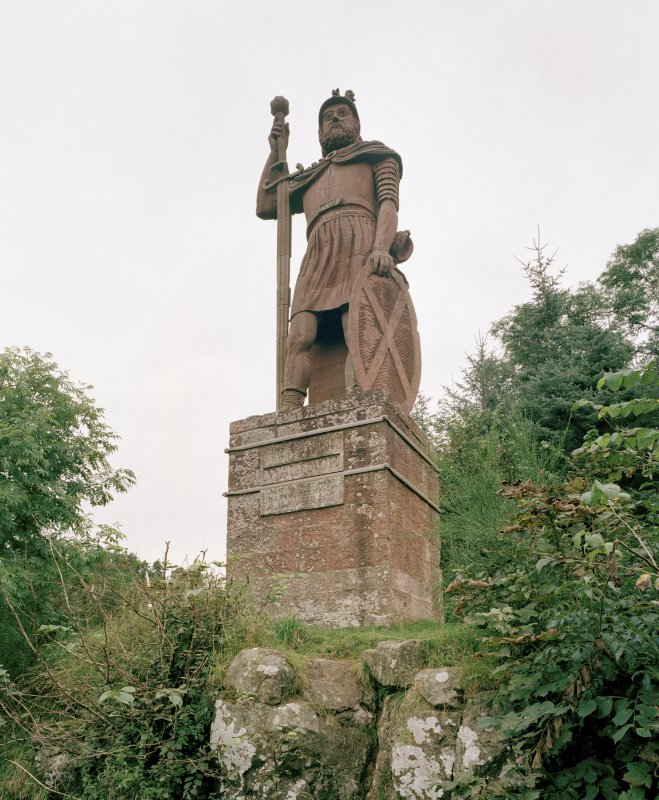 General view of statue from SW.