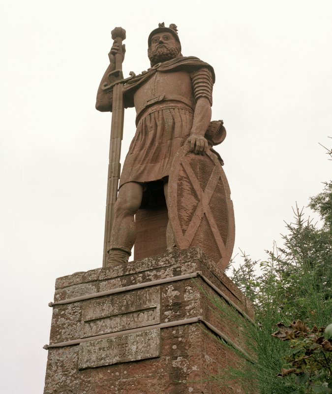 View of statue from SW.