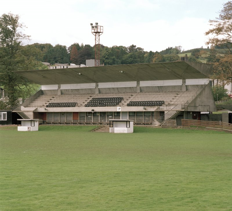 View of W stand from NE.