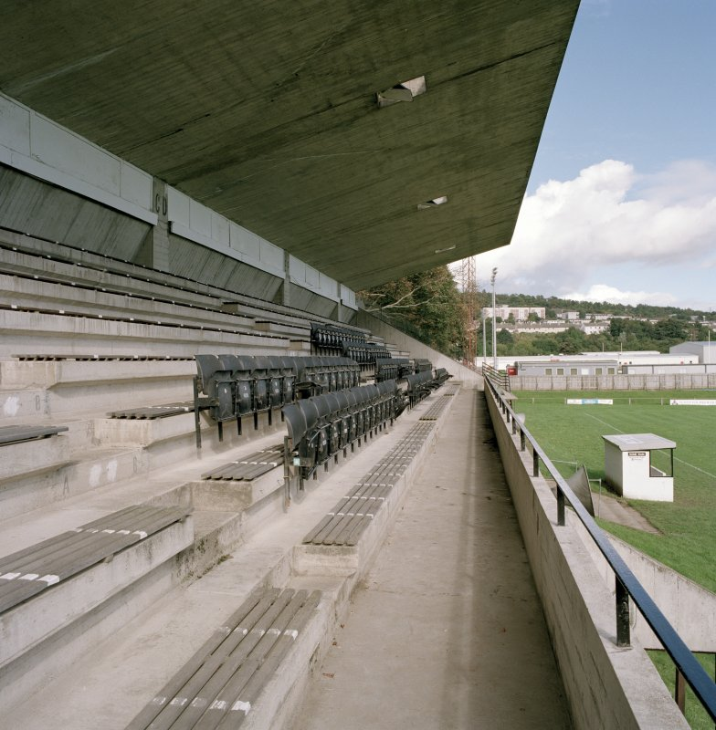 View of W stand seating from S.