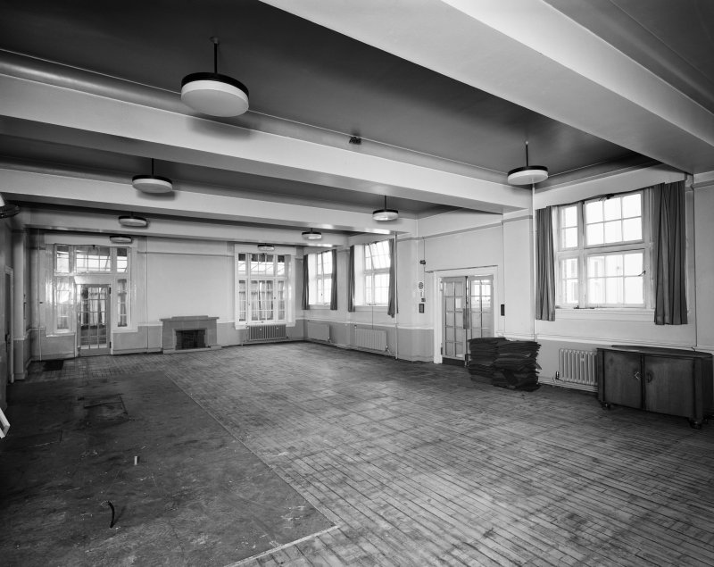 Glasgow, Crookston Road, Leverndale Hospital, interior. General view of Dining Room from North-East.