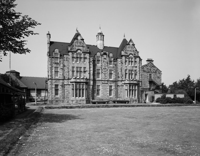 Glasgow, Crookston Road, Leverndale Hospital. General view of North Block from South-East.