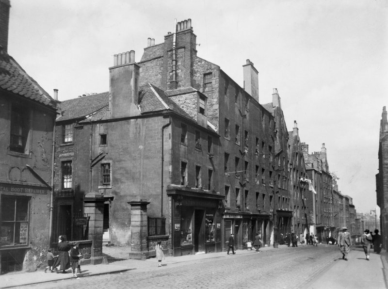 General view of 81-91 Canongate looking East