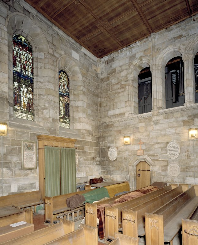 Interior. View of Playfair Aisle from SSW