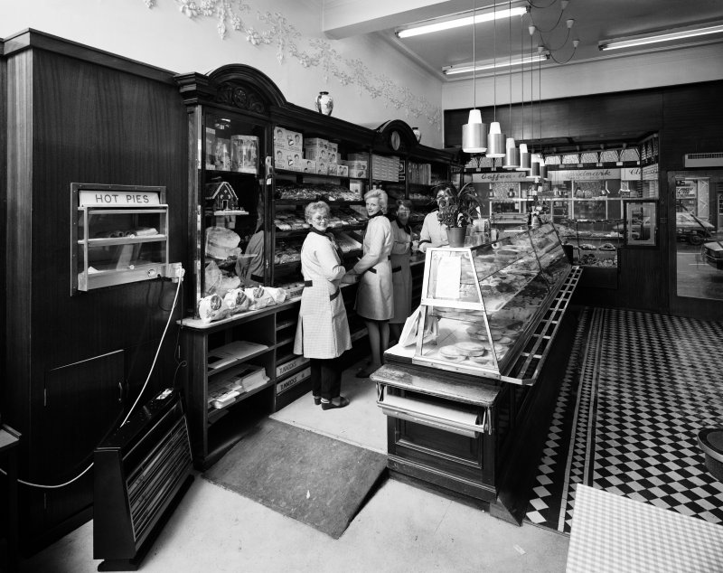 Interior view of Tunnock's bakery shop and tearoom, Uddingston