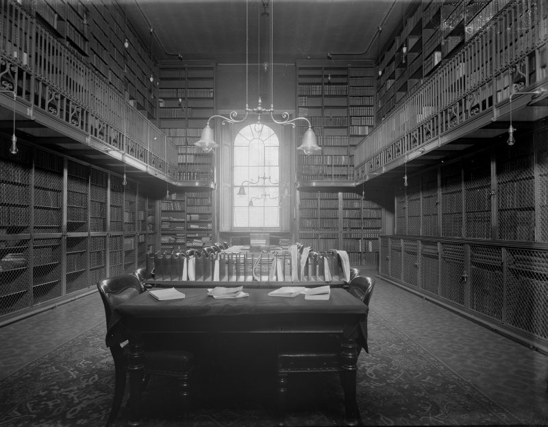 Interior-general view of library in Old College.