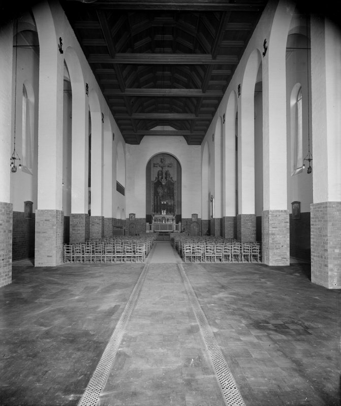 St Peter's Church, interior. View towards altar.