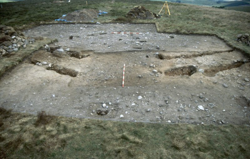 Excavation photographs: Film 62 from the 1996 season at Brown Caterthun. Trench 20, Enclosure A: entrance within palisade enclosure, from the south.