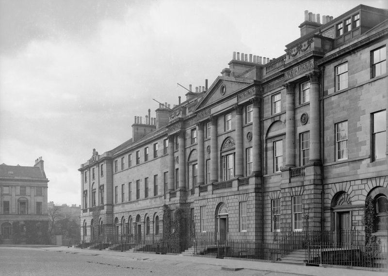 General view of North block (No.1-11), Edinburgh.