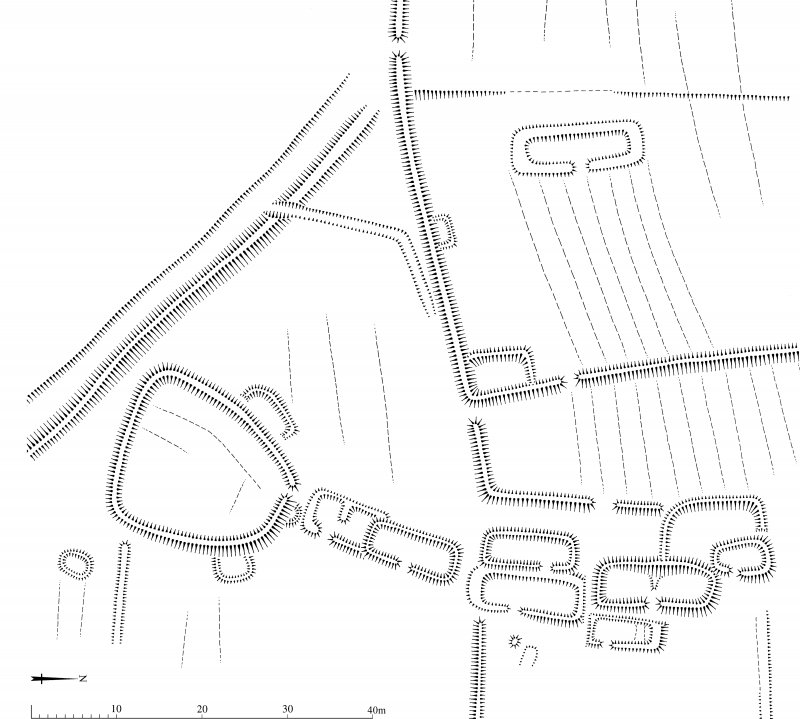 Scanned version of DC49405 - plan of Ettleton Sike township - with added scale bar
